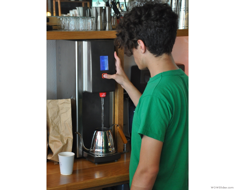 Unlike some, Ritual refills the kettle between pours, so the water doesn't cool off.