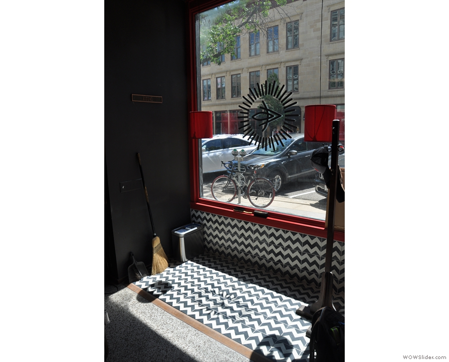 ... although you can't sit in the barbershop window on the left. Nice tiles though.