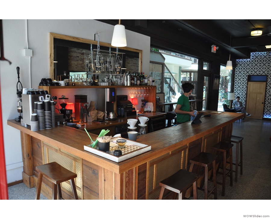 If you've just come for coffee, you need to start over here at the coffee bar.
