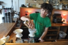 Let's give pour-over a go. There's a second grinder at the back, just for pour-over.