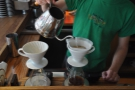 ... where the V60 is filled with the requisite amount of water (in this case 8oz)...
