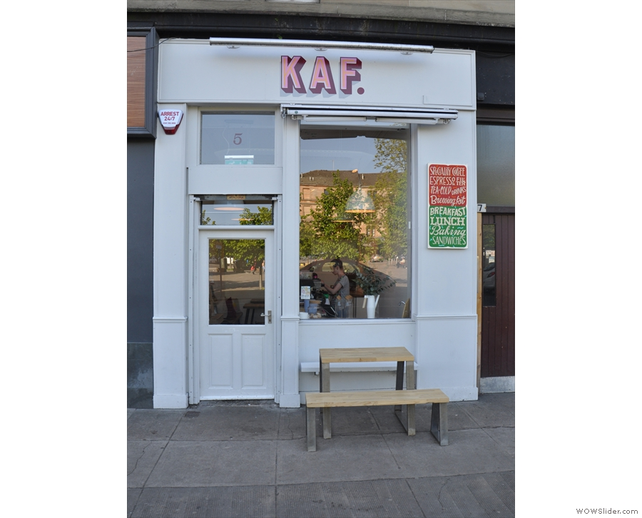 On Glasgow's Hyndland Street, opposite Mansfield Park, you'll find the tiny Kaf.