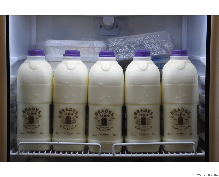 Once again, the only thing I could really photograph were the milk bottles!
