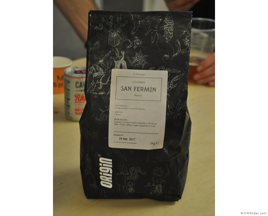 ... and try this San Fermin, a washed coffee from Colombia.