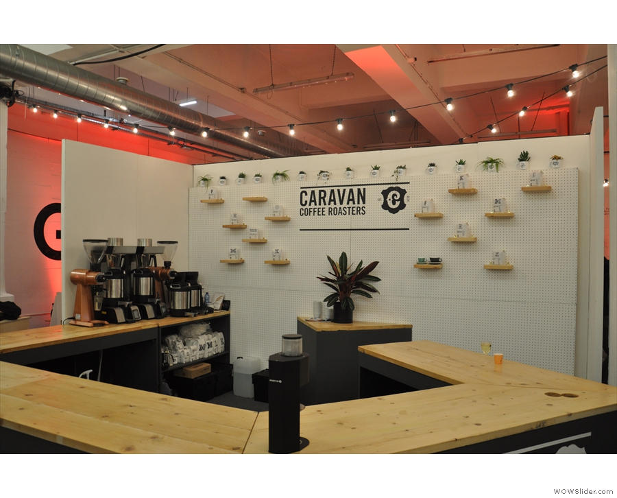 ... and Caravan Coffee Roasters, back with an enormous stand downstairs.