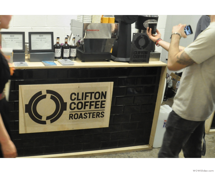Finally, I spot a gap. And yes, it's Clifton Coffee Roasters, if you hadn't guessed.