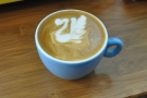 ... where I had some latte art lessons from UK Latte Art Champion, Dhan.
