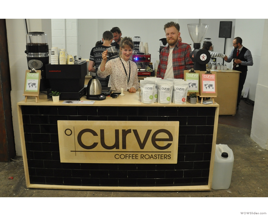 Upstairs at the Roasters Village, and from the other side of the country, it's Curve.