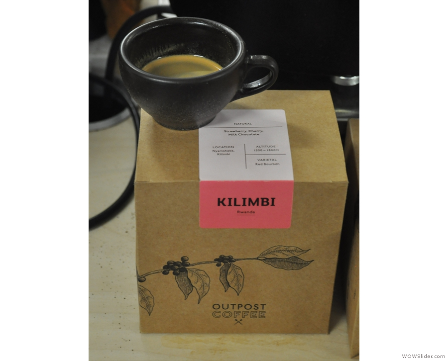 ... a small amount of the Kilimbi roasted for espresso. Let me tell you, it was just as good!