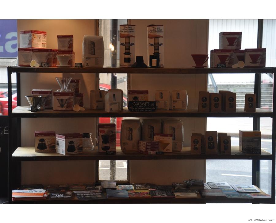 An impressive array of coffee-making equipment.