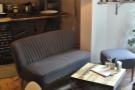 A sofa in the main area.