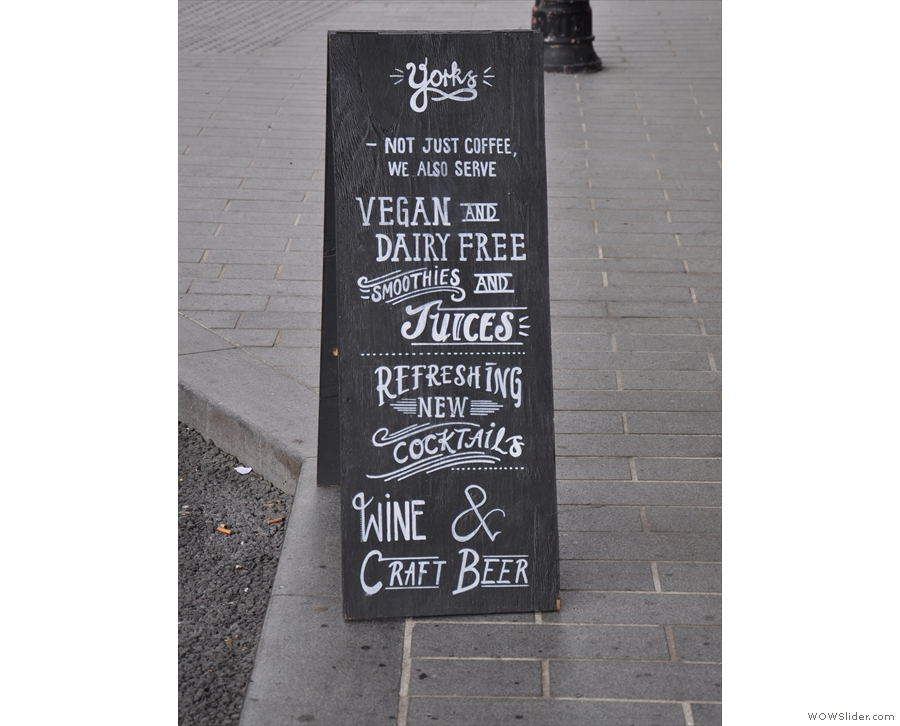 As ever, the A-board tells you all you need to know!