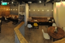 A panorama of the basement from the stairs.