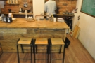 You can still sit at the counter, by the brew-bar, and watch your filter coffee being made.