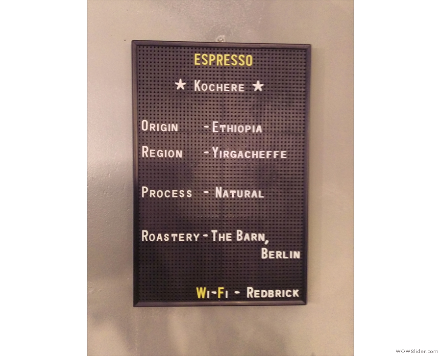 ... while you'll find the espresso choices on this pinboard.