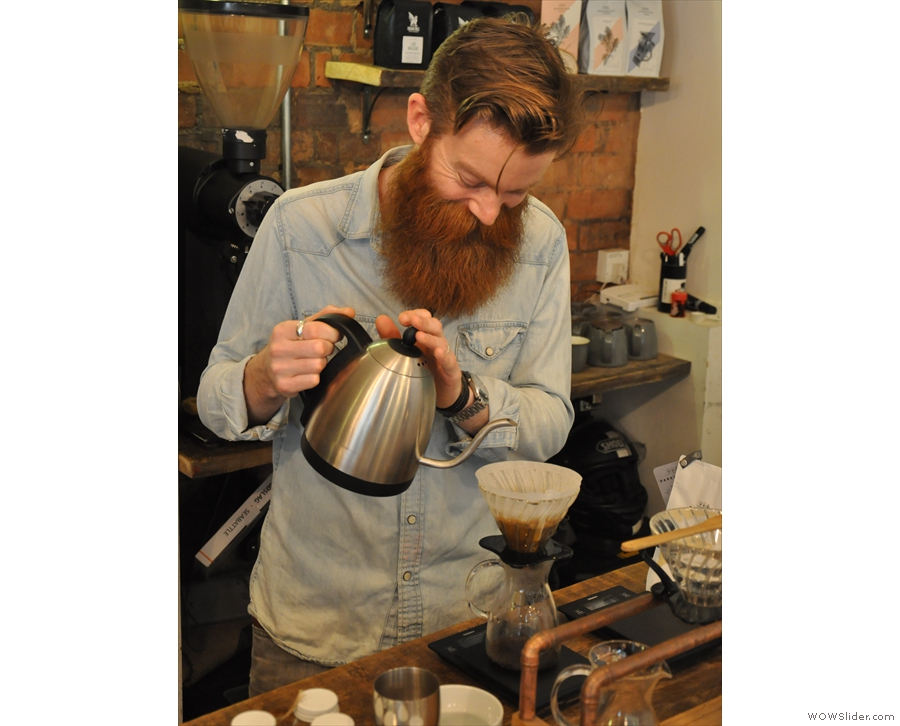 On my visit in May, I decided to try one of the pour-overs, which was lovingly made.