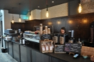 The far end of the counter is centred around the Black Eagle espresso machine.