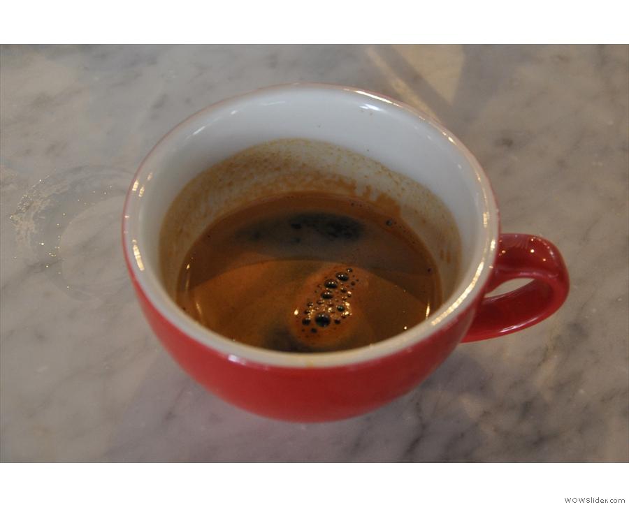 A finally, a Peruvian single-origin, which is the current guest espresso.