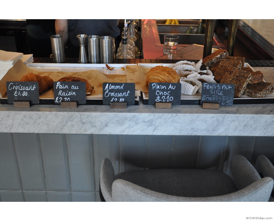 If you're sitting at the counter, watch out for the cake. It all looks very tempting!
