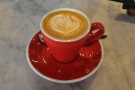 Talking of which, a flat white, with the new seasonal espresso blend.