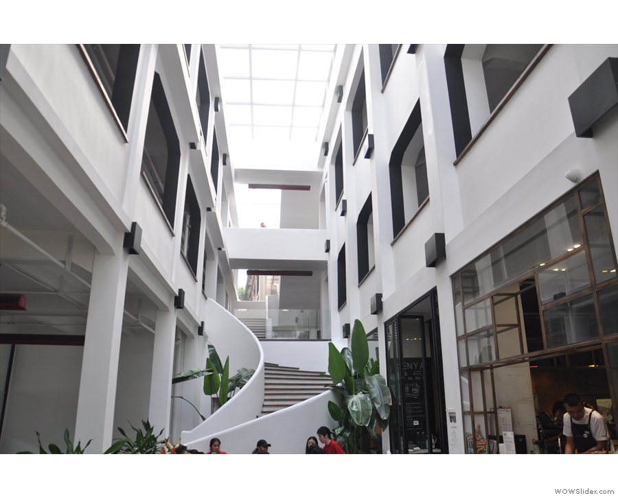 In fact the staircase connects to a balcony that runs all the way around the courtyard.