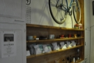 ... where you'll also find these retail shelves. And a bike.