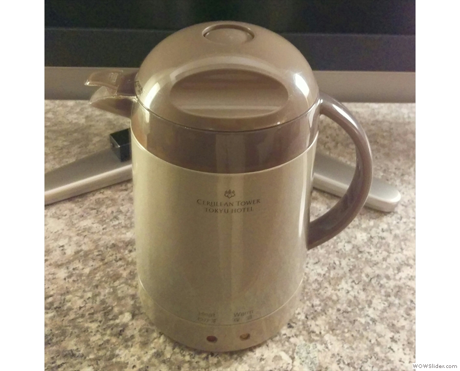 ... where at least the hotels had kettles.