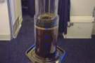Once again, I'm not sure I'd recommend plunging an Aeropress at an economy seat!