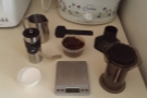 You know when I've come to visit when all my coffee kit is in your kitchen!