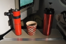 Plenty of stable surfaces & space to both make and drink your coffee! It's the way to go!