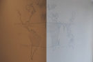 The walls of Canopy are decorated with line-drawings. This is a map of the world...