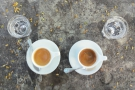 I'll leave you with this vew of my coffee, which neatly shows how different they are!