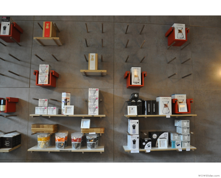 There's also loads of coffee-making kit. And Kokoa Collection hot chocolate.