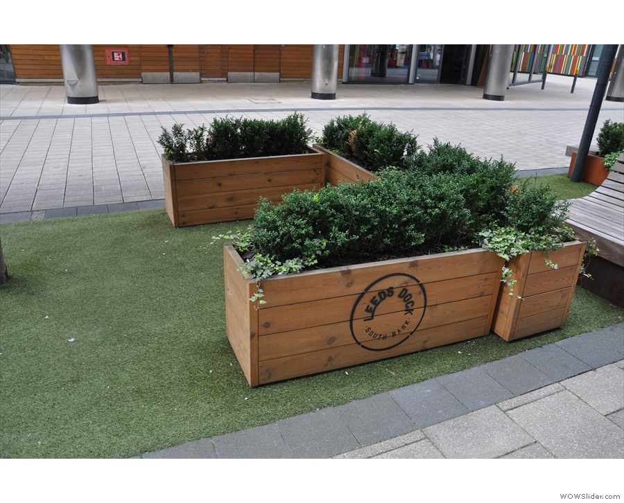 It's a lovely, pedestrianised area, by the way, with plenty of greenery and ...