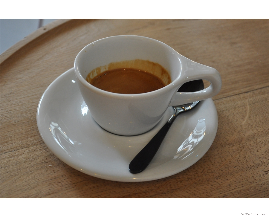 On my return on Bank Holiday Monday, I had the Ethiopian single-origin espresso...