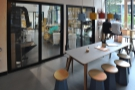 The communal table, as seen from the other side.