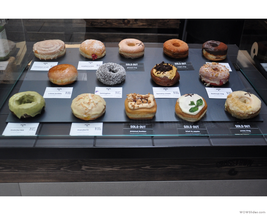 ... which is where you'll find all the choices of doughnut...