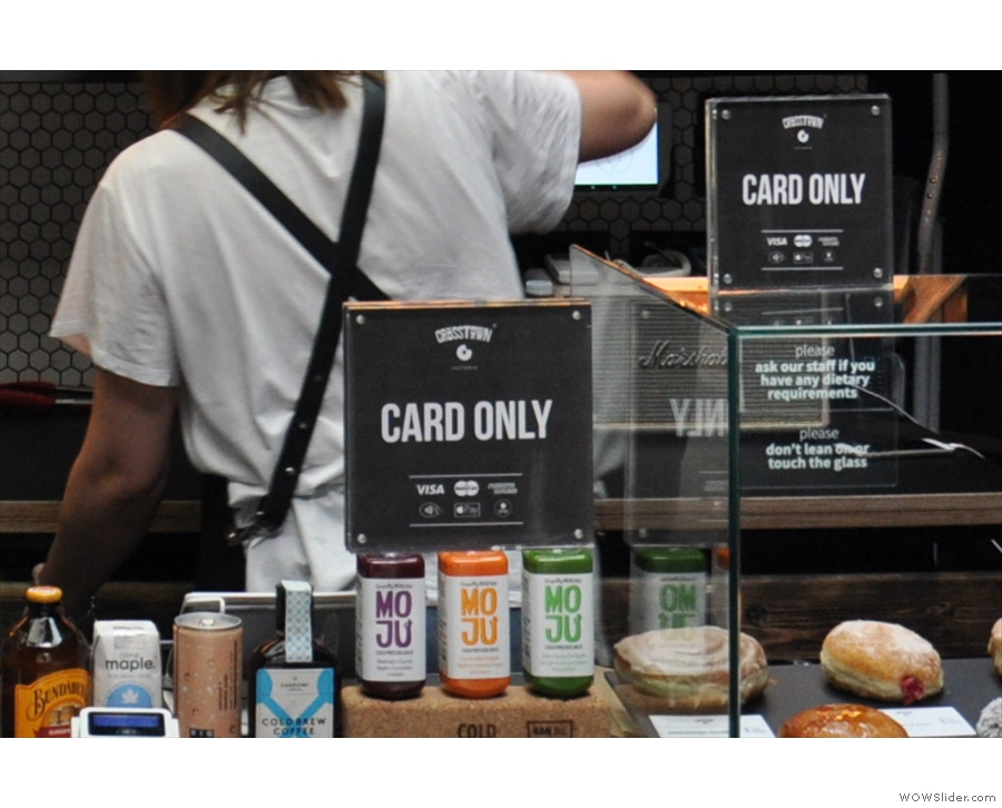 This branch of Crosstown is cashless. If only there was some way for customers to tell.