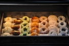 ... while on the other side, the massed ranks of doughnuts wait to be called to action.