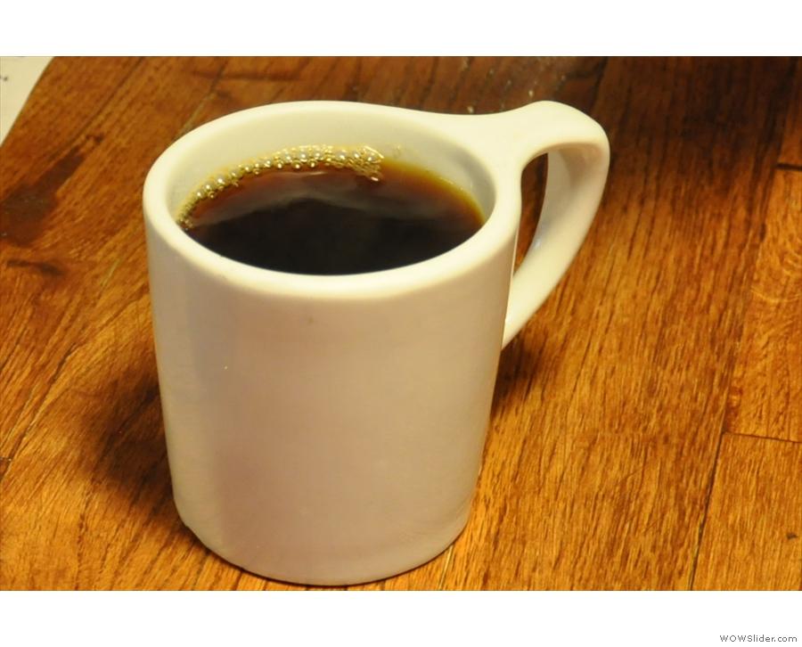 My coffee in the mug...