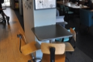And a view from the window bar looking the other way. Check out the table by the pillar.