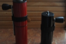 Designed specifically as a travel grinder, here it is next to Red, my feldfarb.