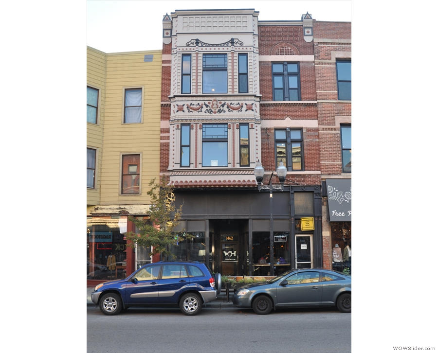 On the west side of Milwaukee Avenue in Wicker Park stands this rather striking building...