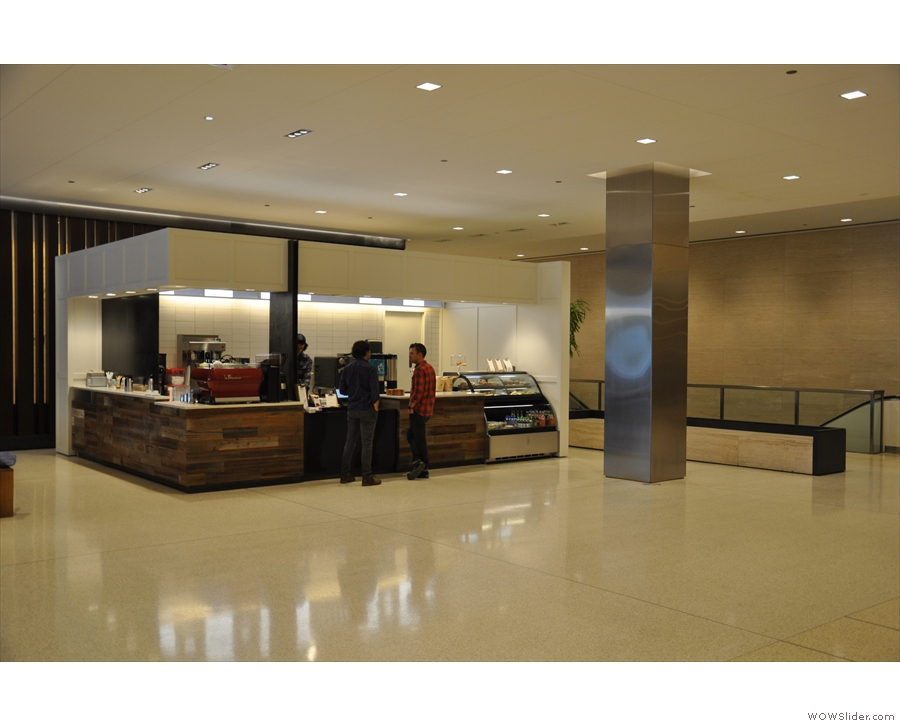 Off to the left of the vast expanse that is the lobby of Chicago's River North Point...