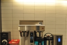 ... while behind it is the Fetco bulk-brewer for the filter coffee.