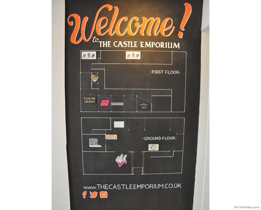 Welcome to the Castle Emporium, home of the lovely Outpost Coffee & Vinyl.