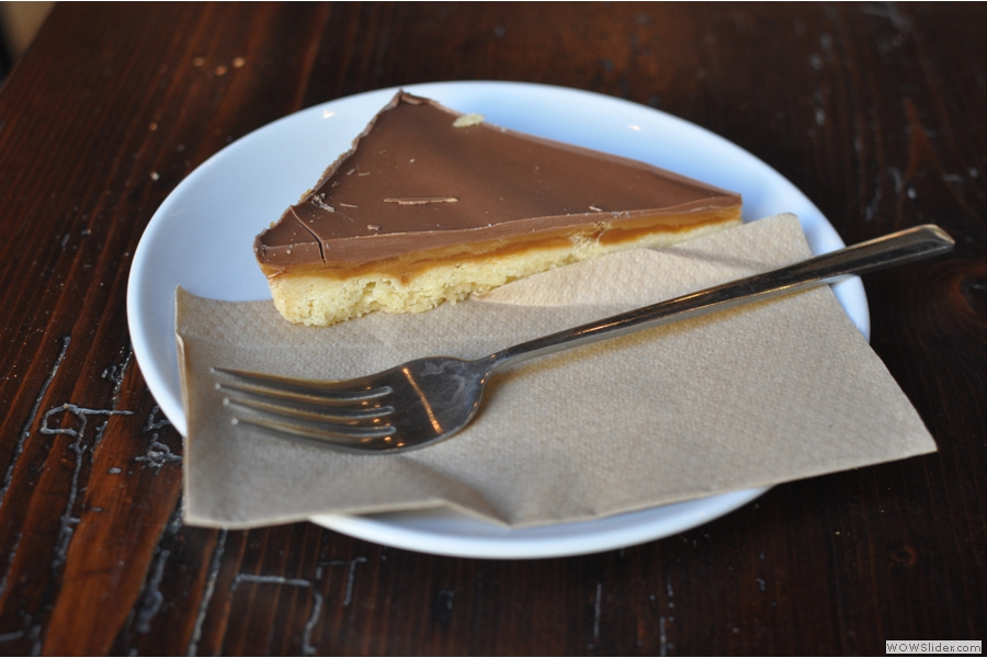 I also had a slice of caramel shortbread which was a little on the sweet side, but just what I needed.