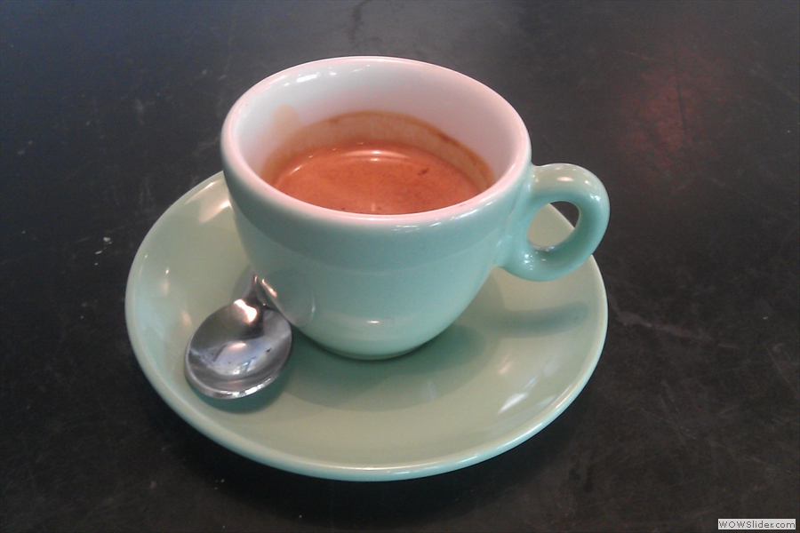 From the top: my espresso, from the Coffee Collective