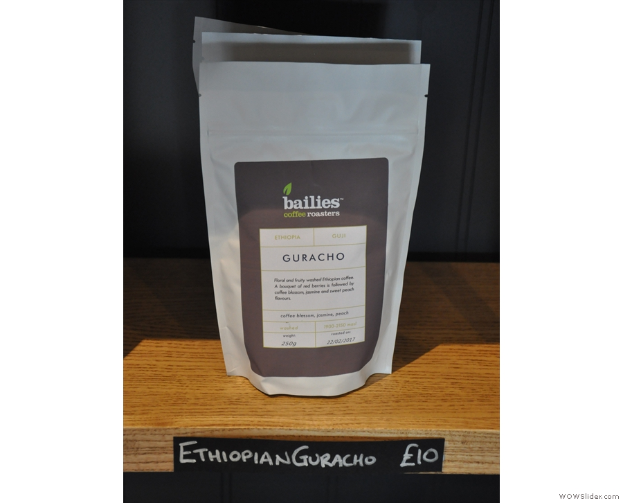 While I was there, the filter option was this Ethiopian Guaracho.