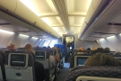 The view from my exit-row seat halfway down the cabin in economy. It feels very small.